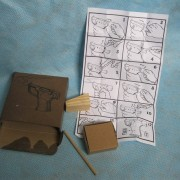 Liberator handgun reproduction box, packing materials