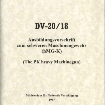 PK Operators Manual DV-20/18
