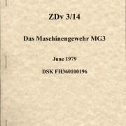 MG 3 Operators Manual ZDv 3/14