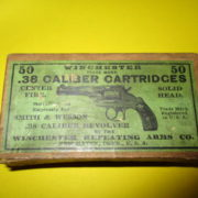 .38 Winchester old box with 13 rounds