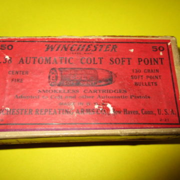Winchester .38 auto full box