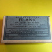M1909 30-06 box of Blank rounds